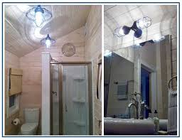Rustic Bathroom Sconces - rustic pendants sconce lend bolt of blue to bathroom remodel