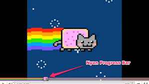 Loading Meme - youtube gives nyan pop tart cat video its very own rainbow loading