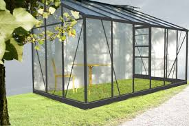 destockage serre de jardin serre adossable en verre avec sa base 7 22m
