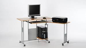 Computer Schreibtisch Buche Marc In Buche Mit Tastaturauszug Und Rollen 120 160 Cm