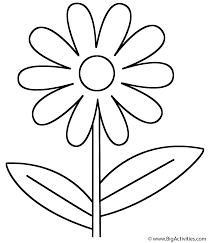 flower coloring page valentine u0027s day