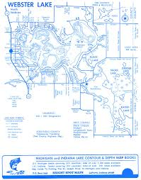 Map Of Michigan Lakes Lake Webster Indiana Real Estate