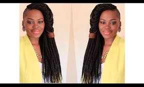braids with bald hair at the bavk how to do box braids a quick style for fresh braids youtube