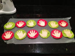 handprint ornaments once a month meals