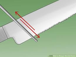 how to sharpen serrated kitchen knives how to sharpen serrated knives 12 steps with pictures wikihow