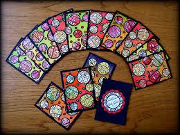 ingrid dijkers circles artist trading cards