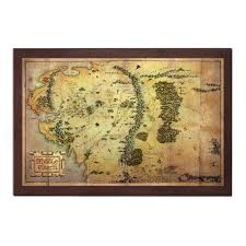 map from lord of the rings map of middle earth from the lord of the rings and the hobbit
