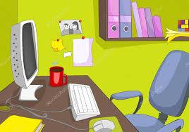 bureau dessin dessin animé fond de lieu de travail de bureau photographie