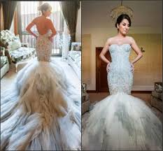 custom made wedding dress new arrival mermaid wedding dresses pastels applique lace color
