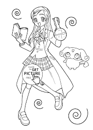 cure anime coloring pages for kids printable free