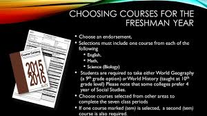 course selection information ppt video online download