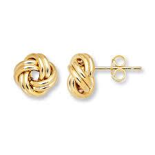 yellow gold stud earrings knot stud earrings 14k yellow gold