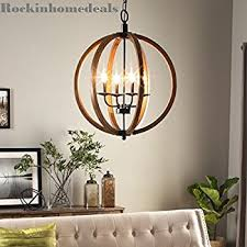 Orb Chandeliers Contemporary Metal And Wood Frame Orb Chandelier
