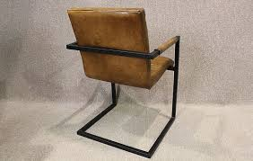 Metal Desk Chair by Tan Leather Armchair With Steel Frame A Wonderful Leather Chair With