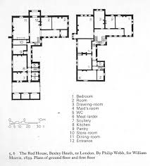 Mather House Floor Plan Webb Red House Plan From Muthesius The English House Arch427