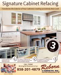 signature cabinet refacing reborn cabinets inc lake forest ca