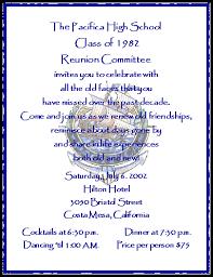 50th high school class reunion invitation invite sle 11 gif 383 497 30th class reunion ideas
