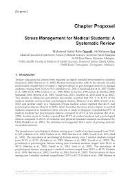 Medical Student R by Stress Management For Medical Students A Systematic Review Pdf