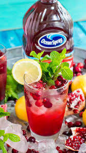 cranberry mocktail sweet and savory meals