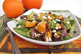 thanksgiving week day 4 pumpkin cranberry goat cheese salad