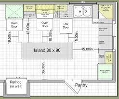 kitchen island plan kitchen design measurements kitchen design measurements and design