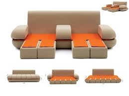 awesome modern sofa bed with storage modern red microfiber pu