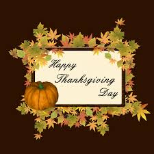 happy thanksgiving day pumpkin leaves vector free vector graphic