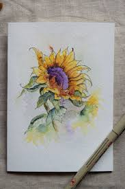 best 25 watercolor sunflower ideas on pinterest sunflower