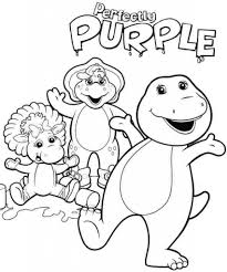awesome free printable barney friends cartoon coloring books
