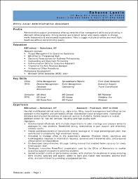 Administrative Assistant Key Skills For Resume Resume For Office Administration Position Free Resume Example