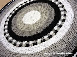 Rag Area Rug Crochet Rug Large Rug Rag Rug Nursery Rug Large Area Rug