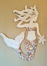 mermaid wall new design wood mermaid vertical style