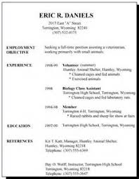 Resume Sample For High School Students With No Experience   http     Alib