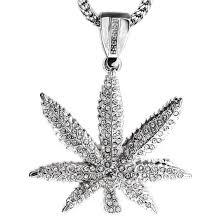 leaf chain necklace images Silver pot leaf 36 quot franco chain franco chains jpg