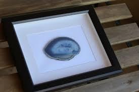 agate home decor framed agate slice geode home decor white or black frame