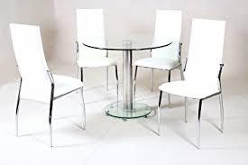 table ronde avec chaises hgg table en verre avec chaises crème table ronde en verre et 4