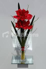Silk Amaryllis Flowers - shop vibrant artificial peach amaryllis floral table arrangement w