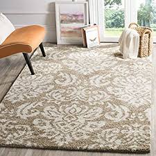 Area Rugs Beige Safavieh Florida Shag Collection Sg460 1311 Beige And