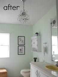 light green bathroom paint bathroom makeover gross to glam crafty little gnome