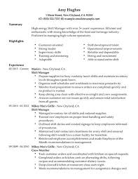 Sample Resume For Restaurant Manager by Restaurant Manager Resumes Free Restaurant Resume Templates