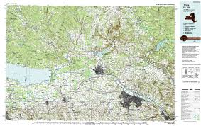 Utica New York Map by New York Topo Maps Topographic Maps 1 100 000