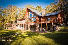 Luxury Log Home Plans Log Home By Golden Eagle Log Homes Prow Feature Wall Screened