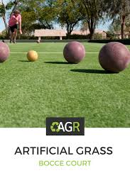 add an artificial grass bocce court in your backyard or business