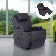canap chauffant fauteuil canapé sofa relaxation massant chauffant et vibrant brun