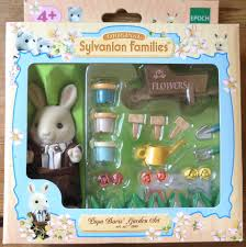 Sylvanian Families Garden Teddy Bears U0026 Friends Papa Boris U0027 Garden Set Buttermilk Rabbit