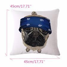 pug home decor lovely 3d pug dog print cushion covers colorful cartoon decorative