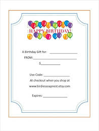 birthday gift certificate template asptur com