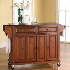 kitchen island with granite top darby home co pottstown kitchen island with granite top reviews