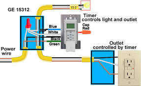 how to wire ge 15312 sunsmart timer for single pole u0026 3 way