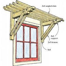 Homemade Window Awnings Window Trellis Diy Windows Woodworking And Window